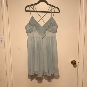 Guess white and blue striped dress